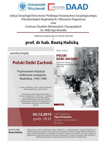 """image: """"Polski Dziki Zachód"""" - wieczór autorski z Beatą Halicką, 2 grudnia 2015..."""
